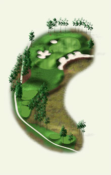 Overview of hole #8